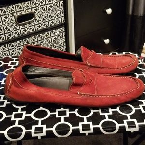 Size 17 Donald Pliner Suede Driving Moccasin